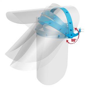 Viziera de protectie faciala premium PRO transparenta reglaj intre 49cm - 66cm dimensiune 300mm - 250mm