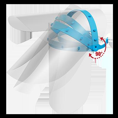 Viziera de protectie faciala premium PRO transparenta reglaj intre 49 - 66cm dimensiune 300mm - 250mm
