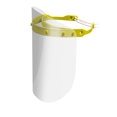 Viziera protectie faciala RoShield Premium reglabila culoare galbena