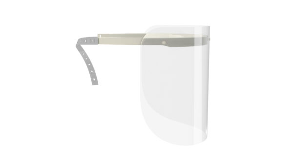 Viziera de protectie faciala, RoShield Standard, culoare alb, fabricata in Romania, reutilizabila, dezinfectabila, confortabila si antialergica, creata pentru prevenirea contactului cu particule de stranut sau respiratie, precum si cu sange sau lichide organice si chimice. Cu o greutate de doar 65 de grame si posibilitatea de reglare de la 45 la 66 cm aceasta poate fi purtata pentru perioade indelungate si la orice varsta. Viziera cu protectie 100%, special creata pentru prevenirea contactului facial cu substante precum sange, lichide organice sau chimice si cu particulele expirate in urma respiratiei sau stranutului.