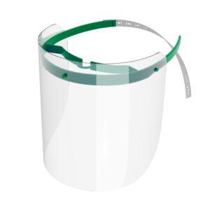 Viziera de protectie faciala, RoShield Standard, culoare verde, fabricata in Romania, reutilizabila, dezinfectabila, confortabila si antialergica, creata pentru prevenirea contactului cu particule de stranut sau respiratie, precum si cu sange sau lichide organice si chimice. Cu o greutate de doar 65 de grame si posibilitatea de reglare de la 45 la 66 cm aceasta poate fi purtata pentru perioade indelungate si la orice varsta. Viziera cu protectie 100%, special creata pentru prevenirea contactului facial cu substante precum sange, lichide organice sau chimice si cu particulele expirate in urma respiratiei sau stranutului.