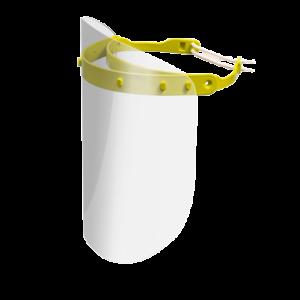 Viziera PREMIUM de protectie faciala, culoare galben, reutilizabila, dezinfectabila, confortabila si antialergica, creata pentru prevenirea contactului cu particule de stranut sau respiratie, precum si cu sange sau lichide organice si chimice. Cu o greutate de doar 80 de grame si posibilitatea de reglare de la 49 la 66 cm aceasta poate fi purtata pentru perioade indelungate si la orice varsta.